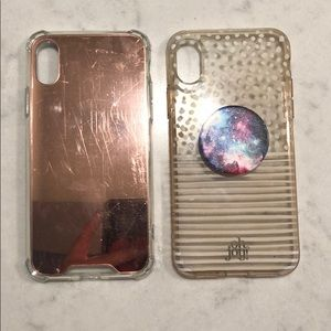 Accessories - Set of 2 IPhone X cases (one with popsocket)